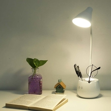360 Degree LED Desk Lamps With Pen Holder Study Table Lamp Eye-Caring Reading Night Light Touch Control