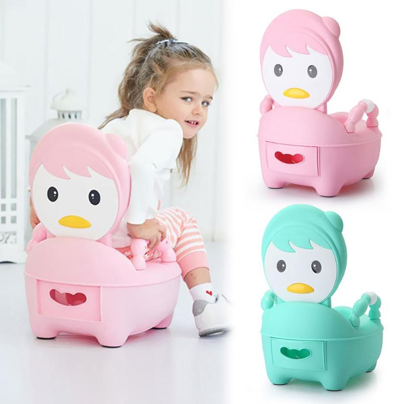 Cartoon Cute Baby Potty Toilet Bowl Training Pan Toilet Seat Kids Bedpan Kids Indoor WC Baby Potty Chair Plastic Children Pot image