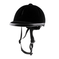 Velvet+ ABS Plasic Kids Horse Riding Helmet Velvet Equestrian Rider Safety Head Hat 48 54cm