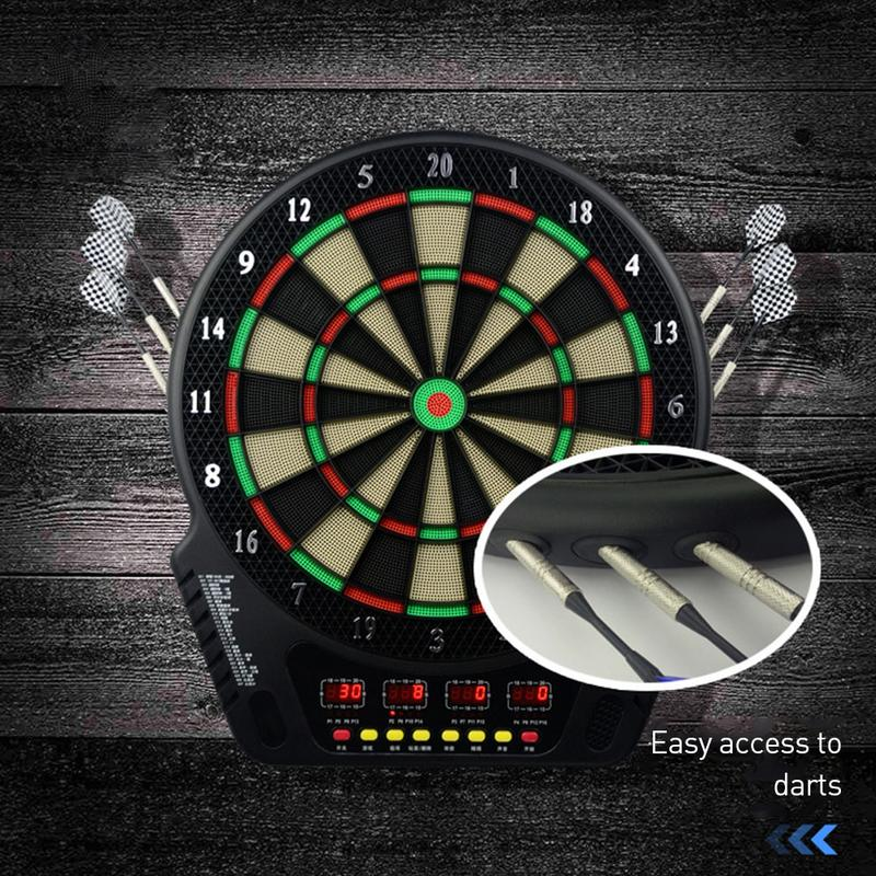 New Indoor 16.5 Inch Sport Double Target Dart Magnetic Flocking Dartboard Board LED Display Proofessional Electronic Dart BoardNew Indoor 16.5 Inch Sport Double Target Dart Magnetic Flocking Dartboard Board LED Display Proofessional Electronic Dart Board