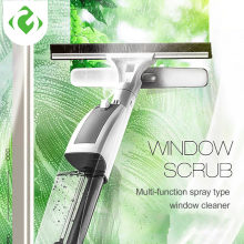 GUANYAO Glass Cleaning Brush with Water Spray Window Cleaner High quality aluminum long handle Wiper and cloth combo silicone