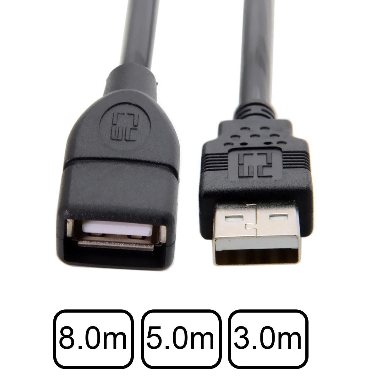 10 pçs/lote USB Tipo A Fêmea para USB 2.0 Masculino Cabo de Dados de Extensão Com dupla Blindagem do Cabo Trança para disco rígido & Scanner - 2