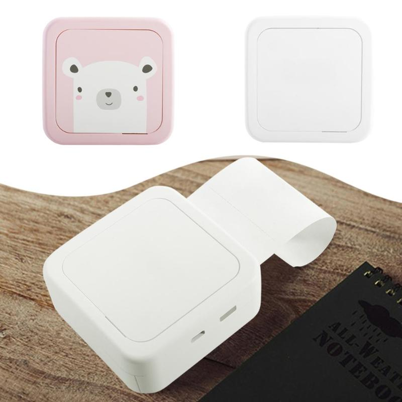 Imprimante Thermique Portable Bluetooth Mini Sans Fil POS Thermique Image Photo Imprimante pour Android IOS Mobile Téléphone Bureau Fournitures
