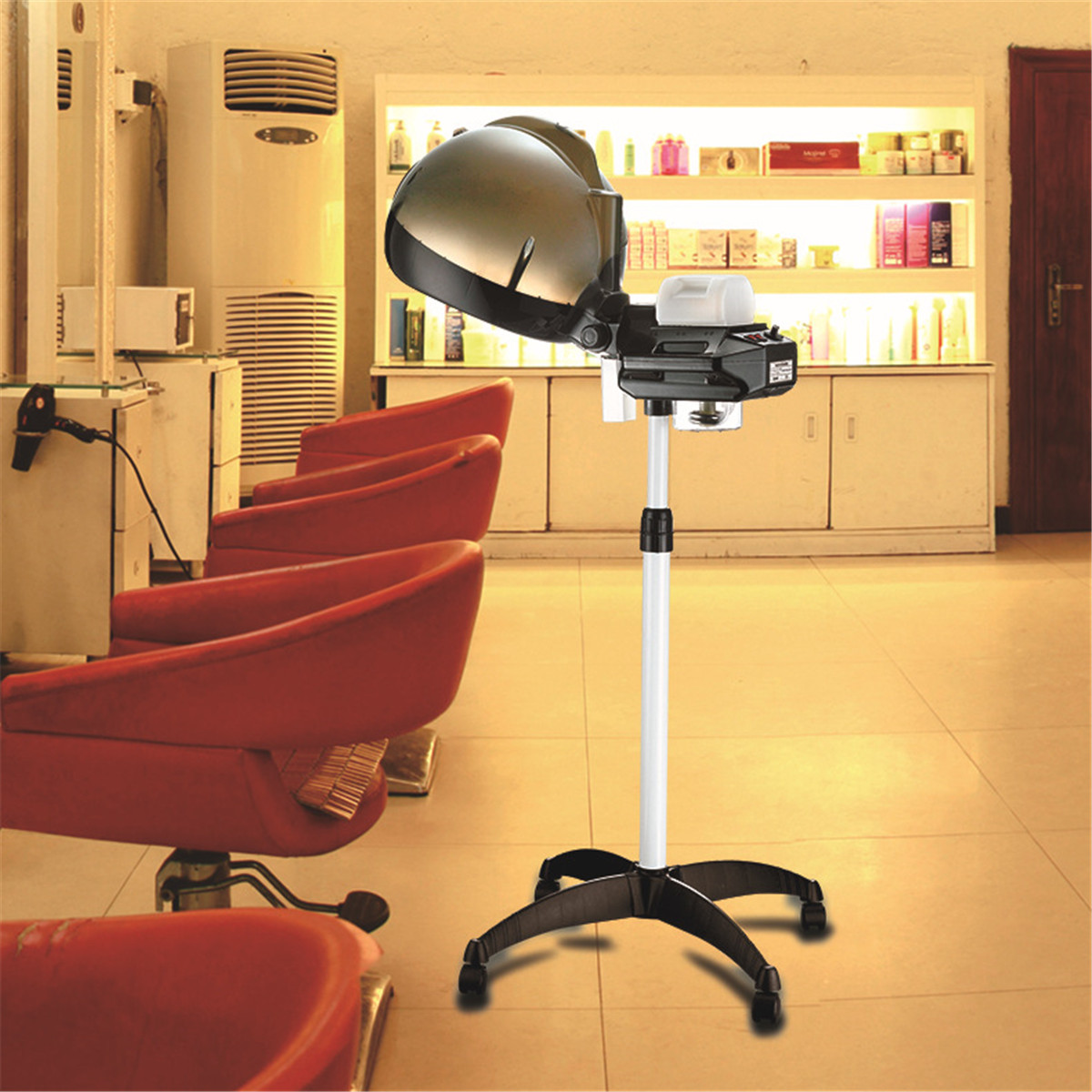 Professional Hair Steamer Rolling Stand Beauty Salon Color: Electric Hair Steamer Professional Salon Hair Hairdressing