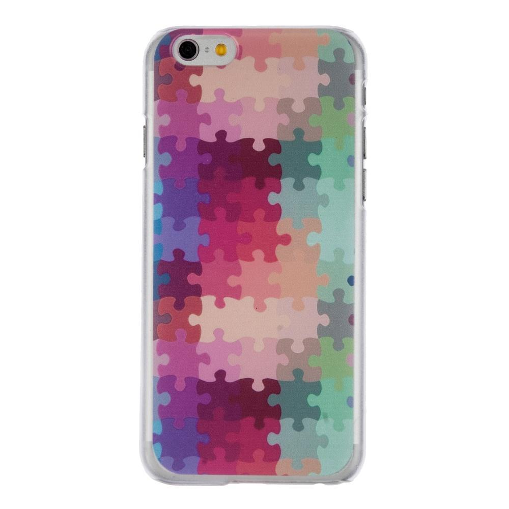 Ultra Thin Hard Shock-proof Puzzle Mobile Phone Cases For Iphone 6Plus Multicolor