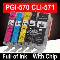 For Canon MG5750 MG5751 MG5752 MG5753 Pixma Printer Ink Cartridge Cartridges PGI570 5color