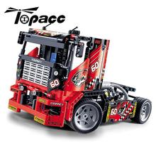 цена на 3360 608pcs Race Truck Car 2 In 1 Transformable Compatible Technic Building Blocks Bricks Kids DIY Toys For Children Kids Gifts