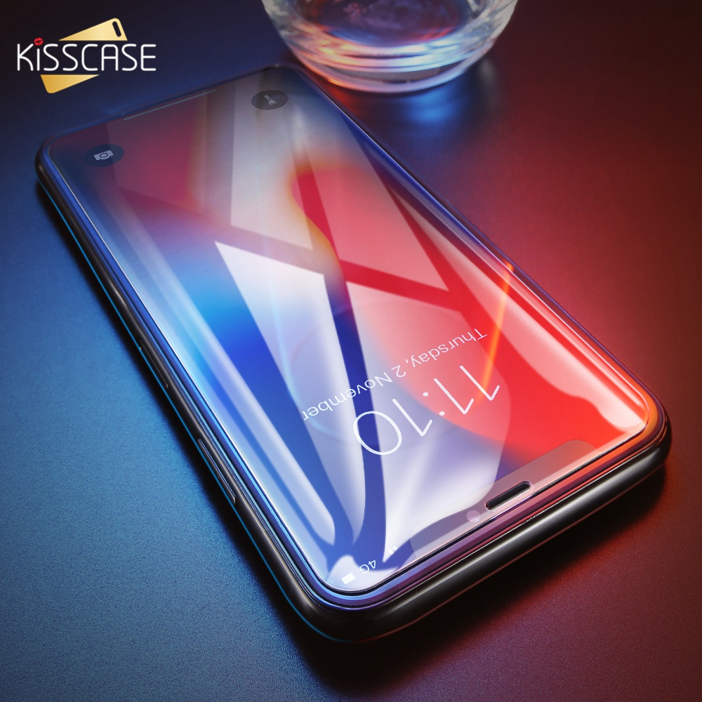 KISSCASE HD Scratch-Proof Screen Protector For iPhone 6Plus 7Plus 8Plus 5 5S 5C SE Transparent Ultra-thin For iPhoneX XS Max XR
