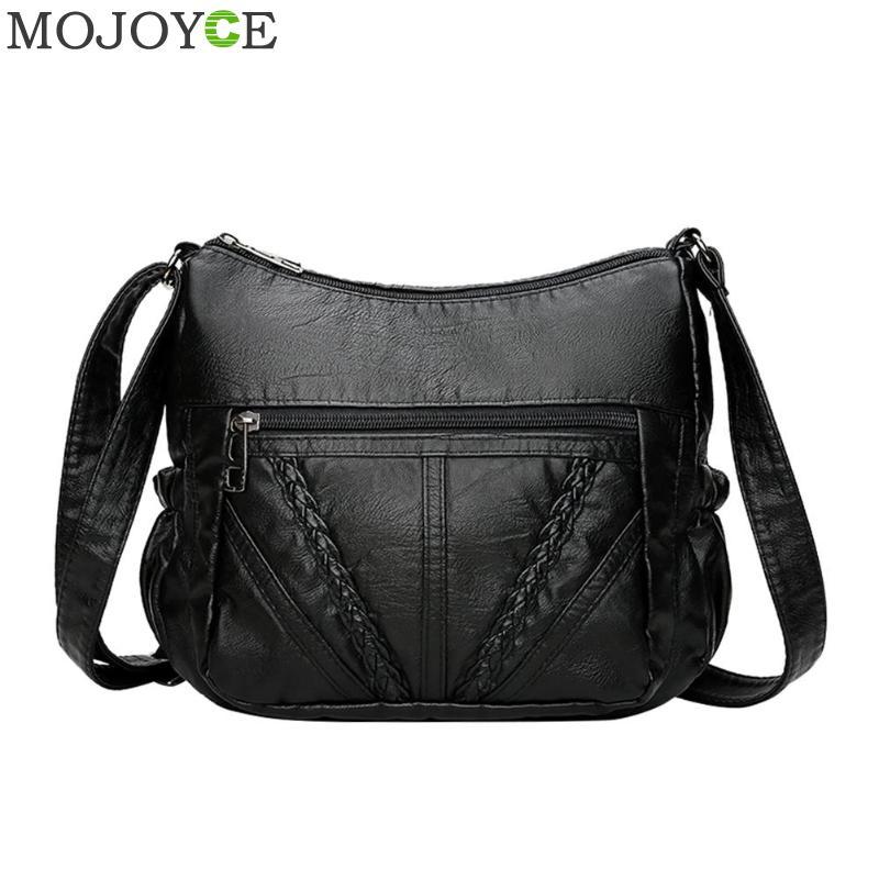 Aliexpress.com : Buy Brand High Quality Black Small Women Messenger Bags Very Soft Washed PU ...