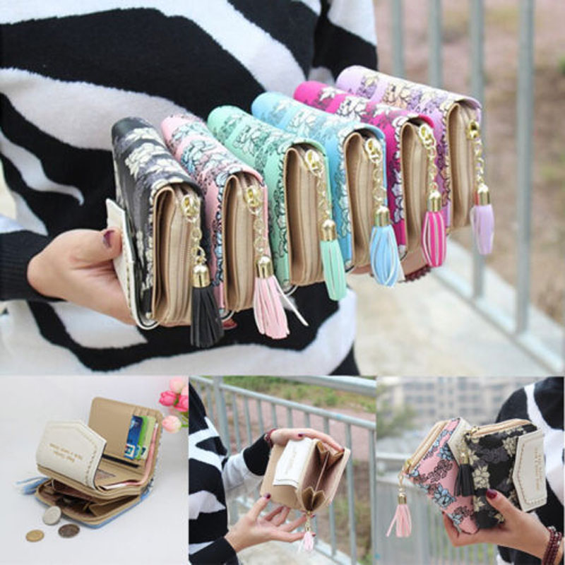 2019 New Brand Fashion Women Mini Wallet Zipper Card Holder Coin Purse Small Leather Clutch Bag Handbag Feminina Hot Money Bag