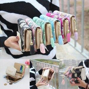 2019 New Brand Fashion Women Mini Wallet Zipper Card Holder Coin Purse Small Leather Clutch Bag Handbag Feminina Hot Money Bag(China)