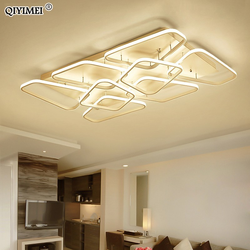 Modern Ceiling lights lamp for living room bedroom Acrylic indoor Lighting Fixture with Remote control deckenleuchte