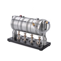 SaiDi STEM Steam Engine Model 8.6Inches Steam Generator Heating Boiler With 4 Alcohol Lamps Science Toy Gift