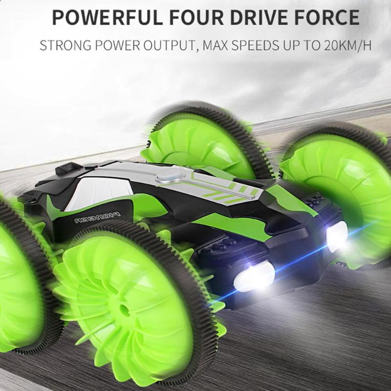 360 Degree Rotation RC Amphibious Remote Control Charging Toy Vehicle Dual-purpose Special Effects Off-road Children Racing Car