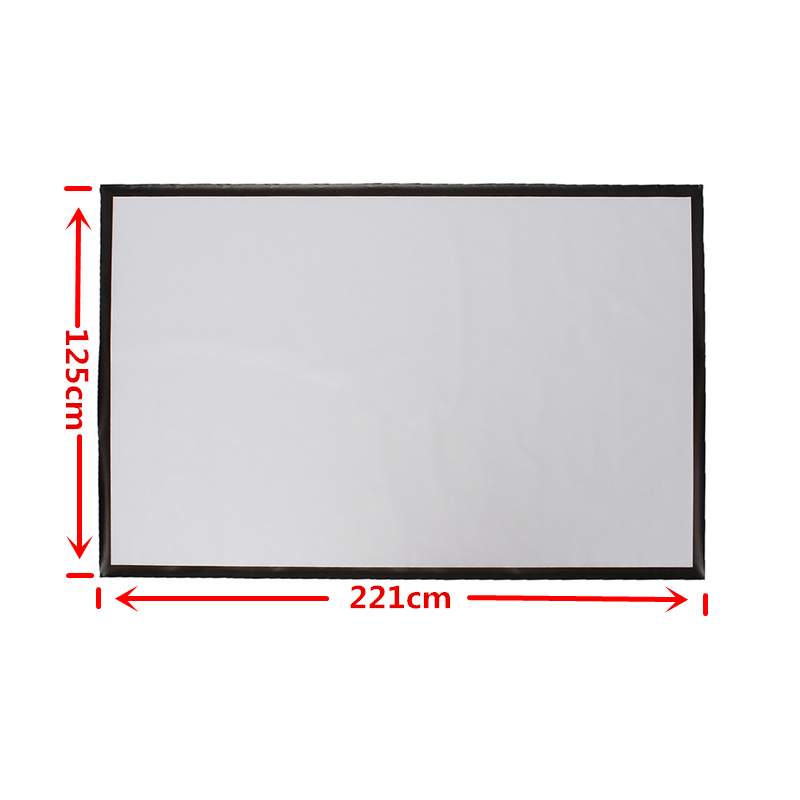 100 Inch Portable Projector Accessorie Screen PVC Projection Screen Matt White Fabric For Home Theater Game Office Meeting 16:9