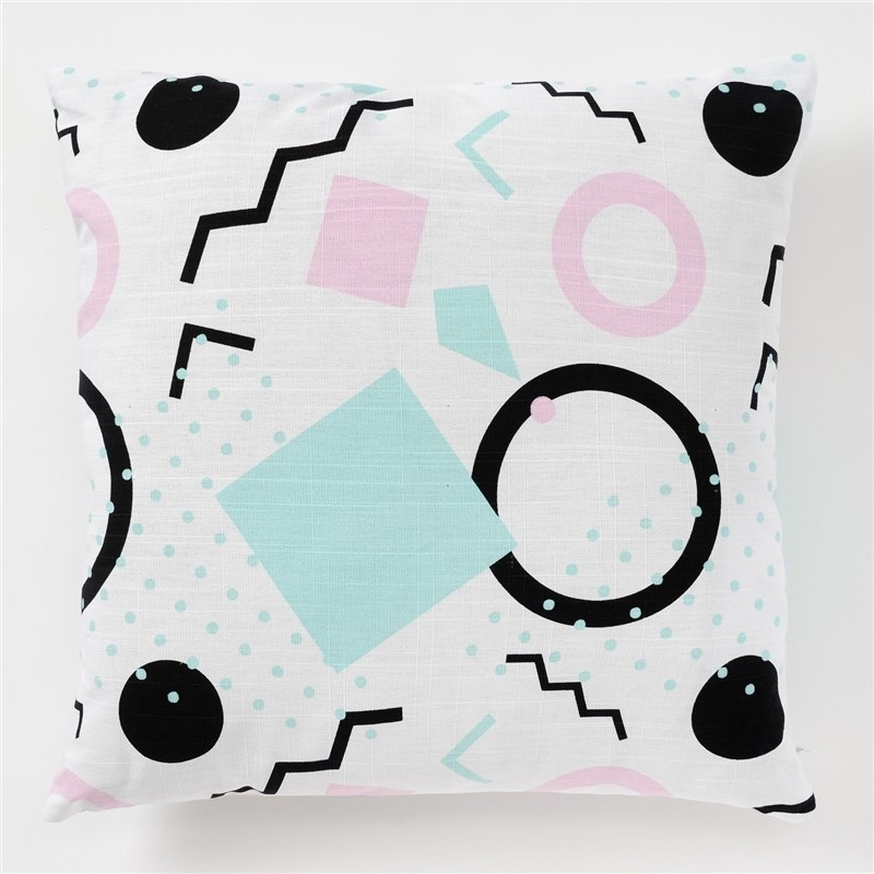 Decorative pillow case Ethel Squares, 45x45 cm, репс, pl. 130g/m², 100% cotton decorative pillow case ethel triangles 45x45 cm репс pl 130g m² 100% cotton