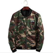 2019 The latest fashion quality  Camouflage Jacket Men Collor Bomber Patch Designs Casual Baseball Coat