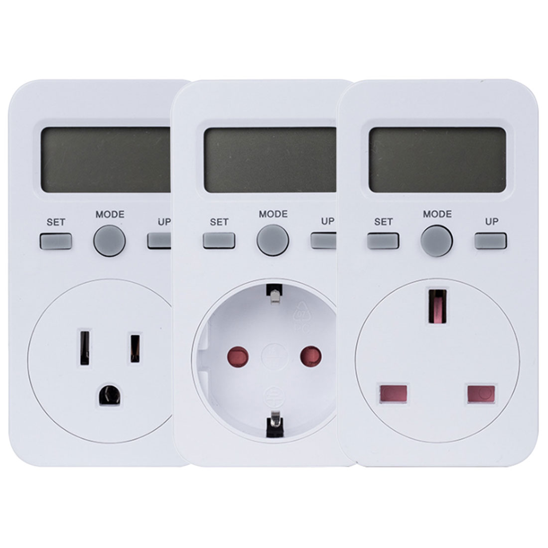Electric Monitor Power Energy Socket Digital Power <font><b>Meter</b></font> Watt <font><b>Electricity</b></font> Usage Monitor Socket Consumption <font><b>Meter</b></font> EU US UK Plug image