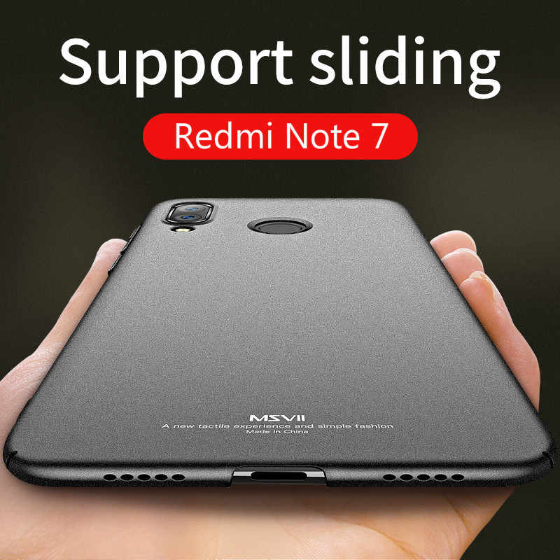 Xiaomi Redmi Note 7 Чехол MSVII Тонкий матовый чехол для Xiaomi Redmi Note 7 Pro Чехол Xiomi Note7 Global PC чехол Xiaomi Note 7 чехол s
