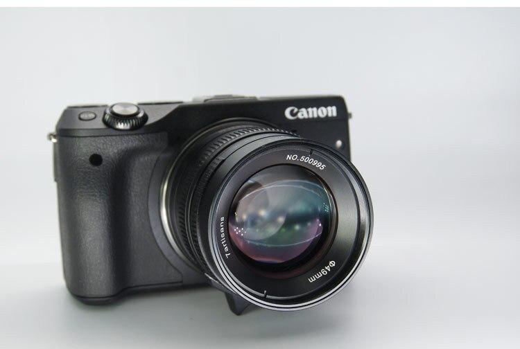 55mm F14 Retrato Micro Único Manual de Lente de Foco Fixo Grande Abertura 55 14 - 3