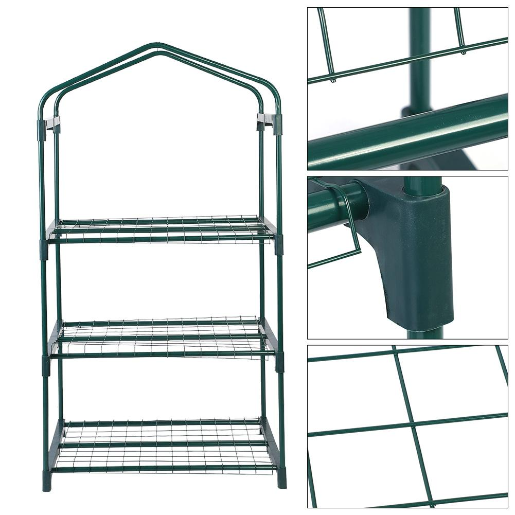 69x49x126 cm 4 niveles Mini invernadero hierro soportes estantes balcones de jardín decoración de Patios herramienta de jardín-in Invernaderos de jardín from Hogar y Mascotas    2