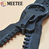 Meetee 20 #1 метр молния из смолы + 1 шт. слайдер Open-end двойная боковая головка экстра большие зубы открытый тент украшение для рюкзака AP653
