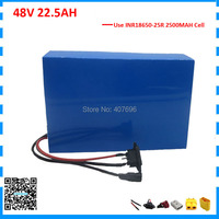 Free customs duty 3000W 48V battery pack 48V 22.5AH lithium battery 48V 22AH ebike battery 25R Cell with 70A BMS 2A Charger