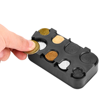 Auto Interieur Coin Holder Case Opbergdoos Container Dispenser Organizer (Voor Euro Munten)