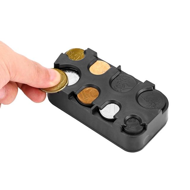 Car Interior Coin Holder Case Storage Box Container Dispenser Organizer (For Euro Coins)