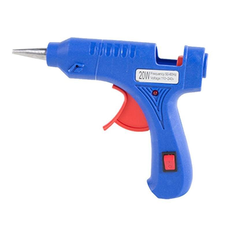 20W High Temp Heater Hot Melt Glue Gun Mini Electric Heat Gun Repair Tool 110-240V EU/US Plug