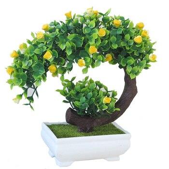 e7da72e2bca De tipo árbol Bonsai con hierba Planta Artificial para la decoración del  hogar patio Escritorio de oficina alféizar de la ventana
