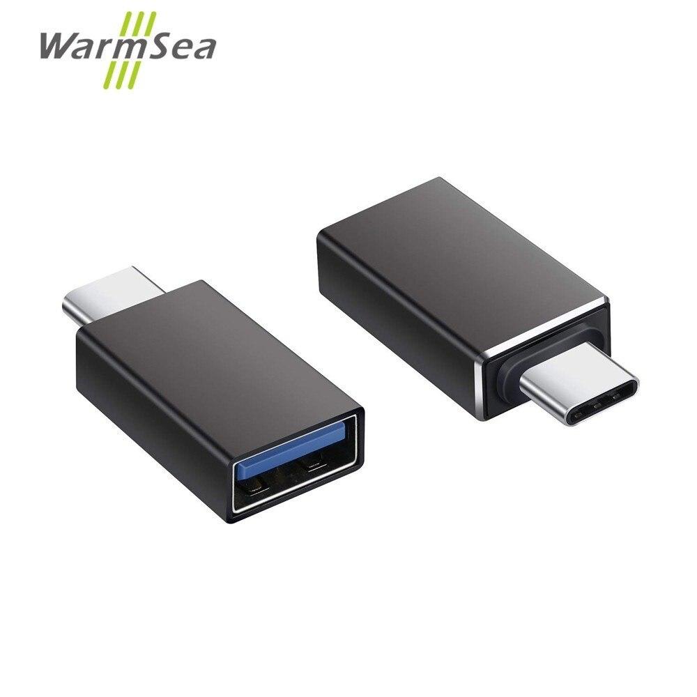 USB Type C Adapter Thunderbolt 3 To USB 3.0 OTG Converter Aluminum For MacBook Pro 2017 Samsung Note 8 S8 Google Pixel 2 XL