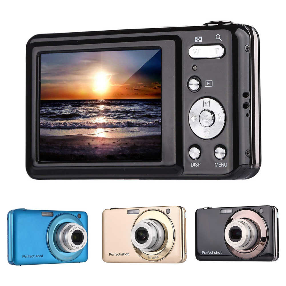 24MP Video Record Optical Zoom Gifts Digital Camera Lithium Battery Portable Photo High Definition Kids Outdoor Colorful Compact