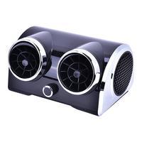 12V 24V AC DC Bladeless Electric Car Cooling Fan Dual purpose Brushless Motor Car Fan Low Noise Portable Desktop Cooler