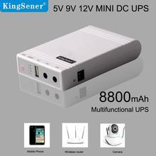 Kingsener Wifi роутер ip-камера UPS резервная батарея источник бесперебойного питания DC портативный 5 в 9 в 12 В мини UPS для видеонаблюдения