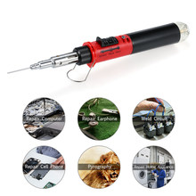 Gas Soldering Iron 12 in 1 Professional Pen Type Butane Gas Electric Soldering Iron Set Dual Function Flame Ignitor Welding Tool(China)