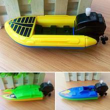 Детская заводная на воде игрушка для купания заводная лодка бассейн игрушки для купания моторная лодка подарок на день рождения обучающая игрушка