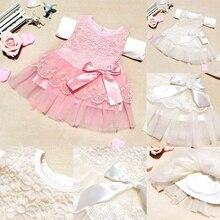 Fashion Kids Girls Princess Sleeveless Lace Dress Flower Bowknot Tutu Party Wedding Dresses YJS Dropship