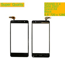 все цены на 10Pcs/lot Touch Screen Digitizer For ZTE Grand X4 Z956 Z957 Touch Panel Touchscreen Lens Front Glass Sensor Grand X 4 Touch онлайн
