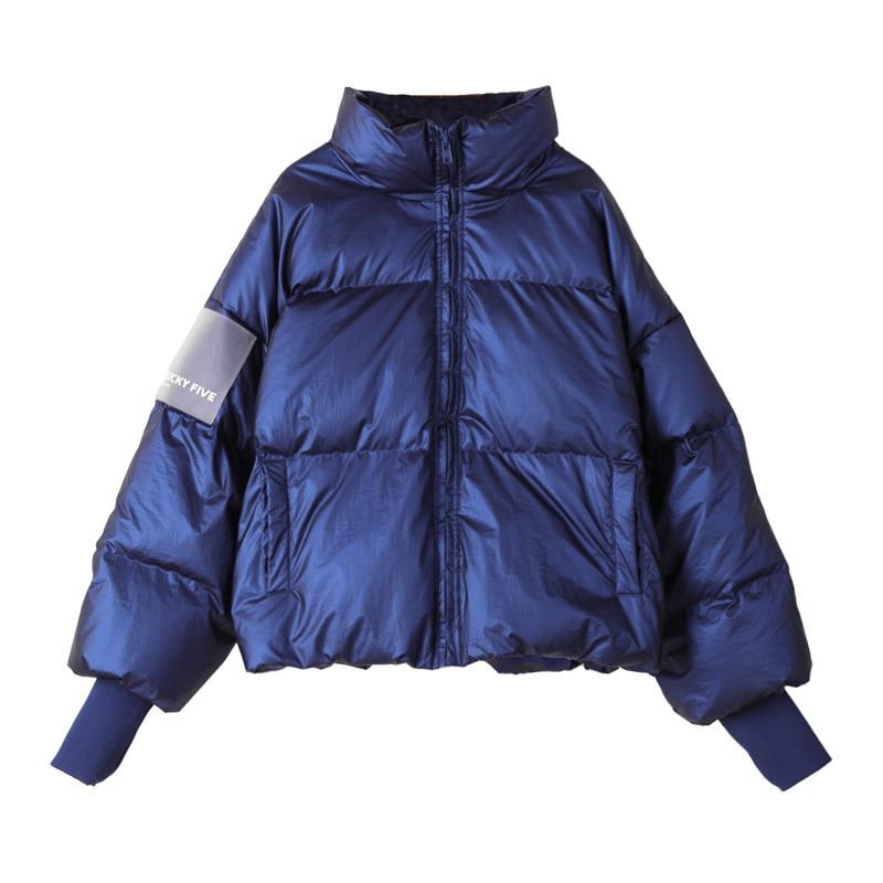 Coupe-vent imperméable à l'eau blanc canard vers le bas doudoune dames neige porter épais chaud mode pardessus hiver manteau femmes vêtements B110
