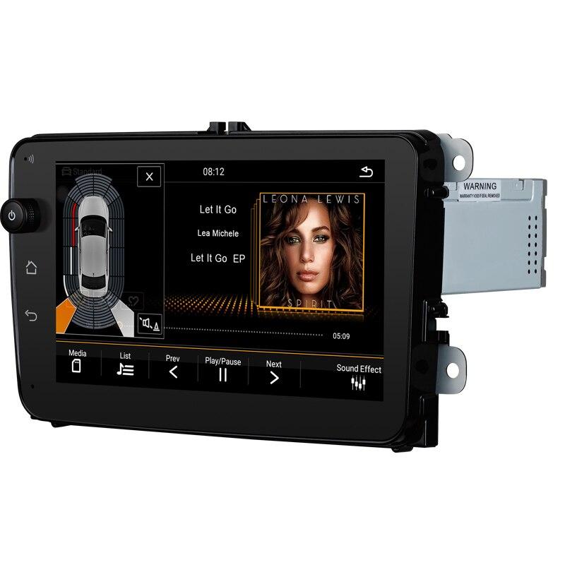 Lecteur multimédia de voiture DVD de voiture pour VW/Volkswagen/Golf/Polo/Tiguan/Passat/Jetta/CC/SEAT/leon/Skoda/EOS 8