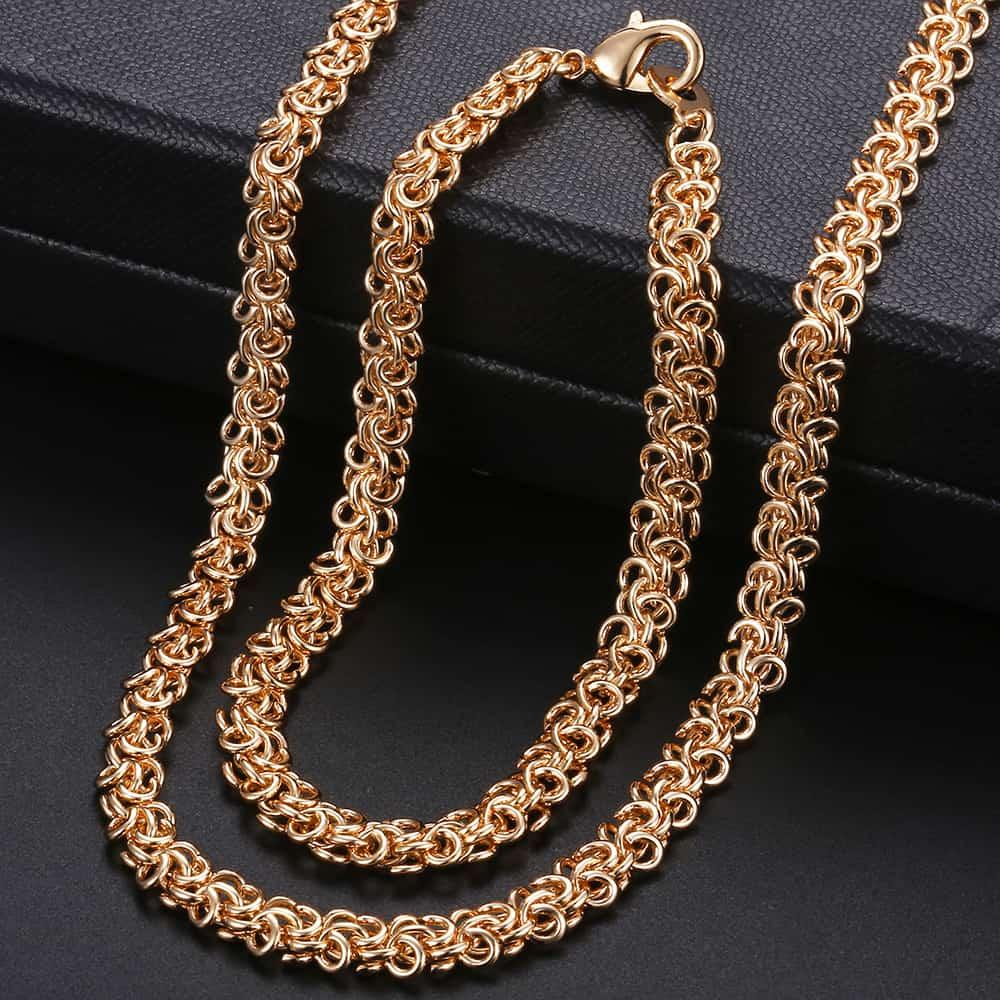 Men's Women's Jewelry Sets Swirl Link Chain 585 Rose Gold Necklace Bracelet  Set For Men Woman Jewelry Hot Party Gifts 6mm KCS05|Jewelry Sets| -  AliExpress