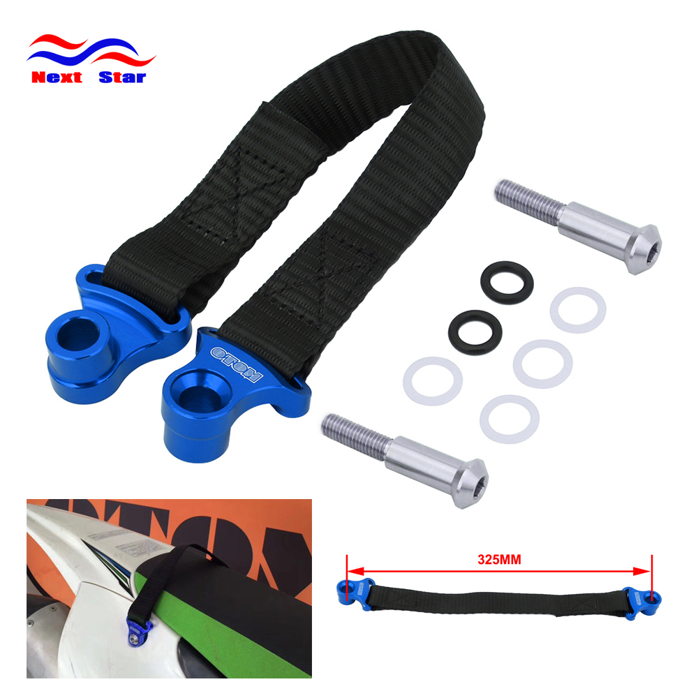 Motorcycle Blue/Red Rear Rescue Pull Belt Bundle Lead Band For YAMAHA YZ250F YZ450F YZF250 YZF450 2014 2015 2016 2017 2018 2019