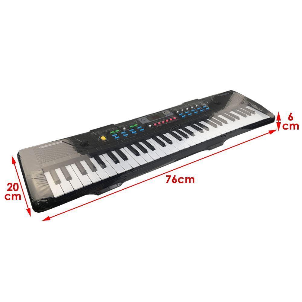 61 teclas teclado electrónico Digital y micrófono eléctrico Led música - 3