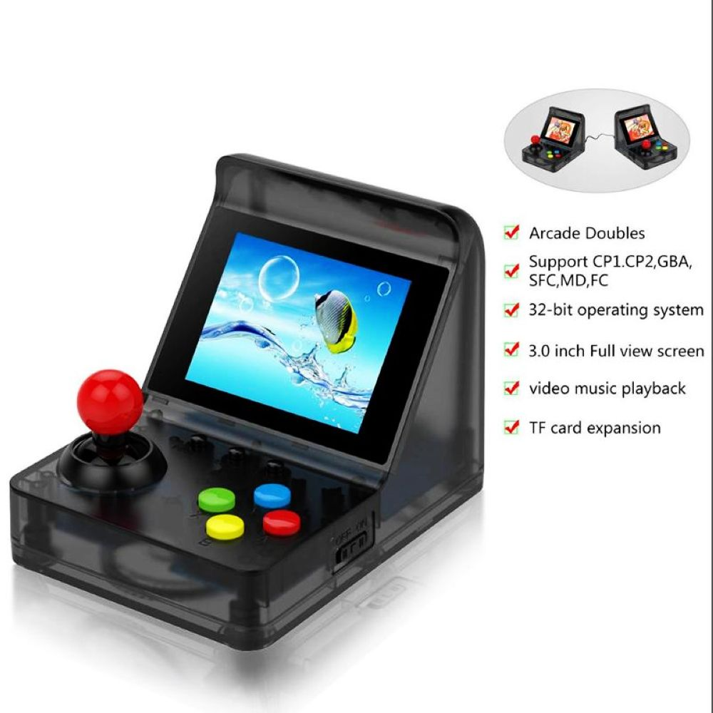 3.0 inch 32 bit support tf card and two players battle 520 games preinstalled 256 M memory game console retro arcade mini