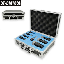DT-DIATOOL 8pcs/kit Vacuum Brazed Diamond Drill Core Bits Sets 5/8-11 Connection Hole Saw Mixed size plus Finger Bits for Marble [10mm length of straight shaft ] 60mm diameter diamond vacuum brazing core bits cd60vbs free shipping 2 3 8 brazed tools