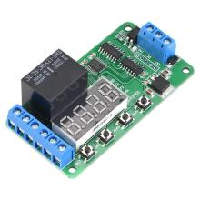 12V Dual Channel Timer Relay Multifunctional DPDT Delay Timer Relay Time Control Switch DR42A01