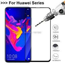 9 H フルカバー強化ガラス Huawei 社の名誉 8A 8C 8X 7A プロ 7C 10 10i 再生表示 20 1080p スマート Y7 Y6 2019 スクリーンプロテクターガラス