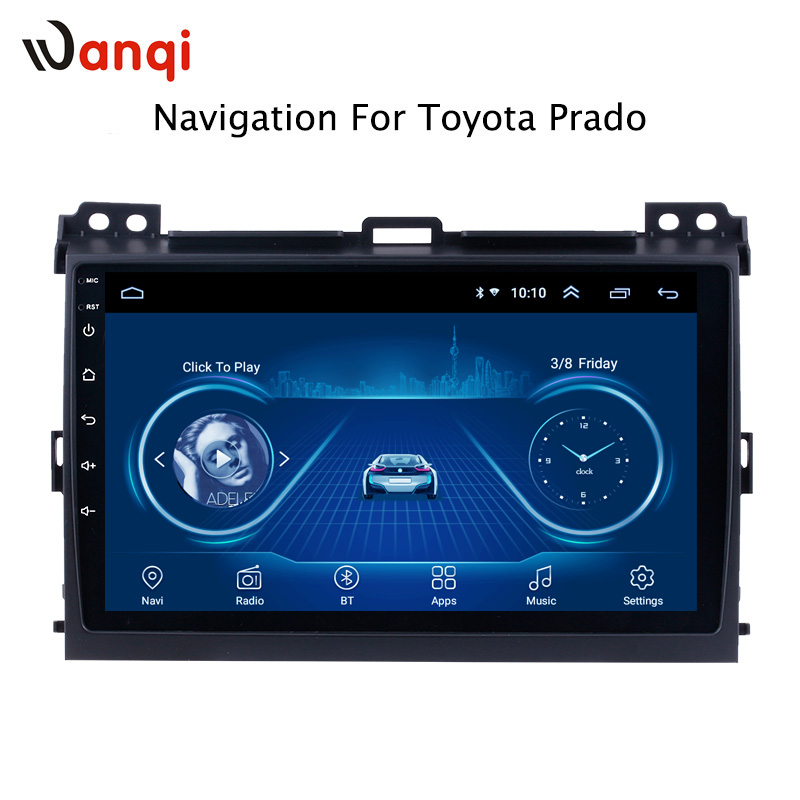 9 inch Android 8 1 For Toyota Prado 2004 2009 HD Car DVD Player GPS Navigation
