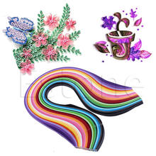 Strips DIY Origami Art Mixed 3/5/7/10mm Craft Paper 260 Stripes Paper Quilling(China)